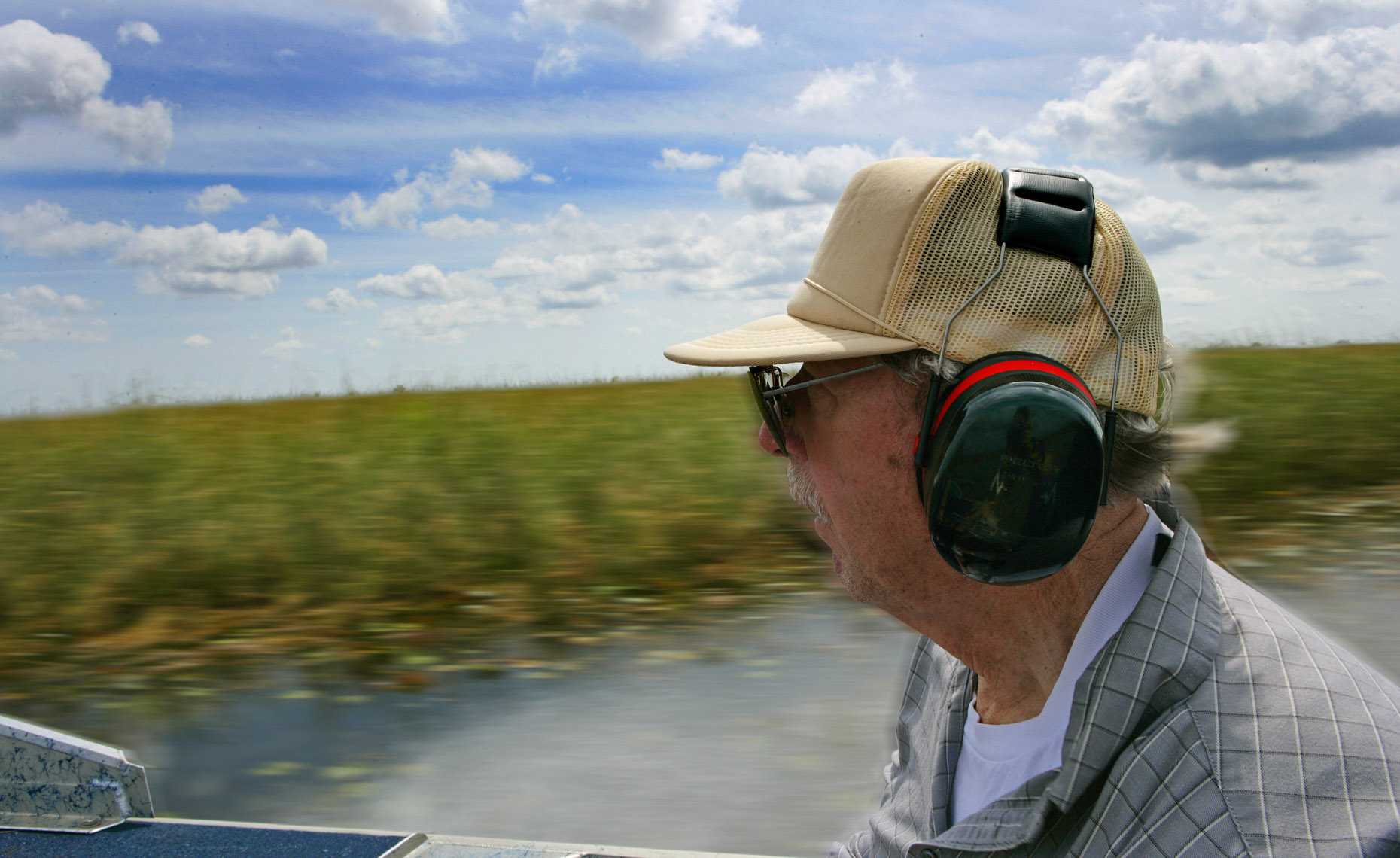 My Dad, Florida Trip, Everglades, Profile